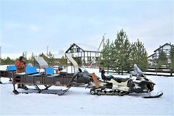 Снегоходы с санями