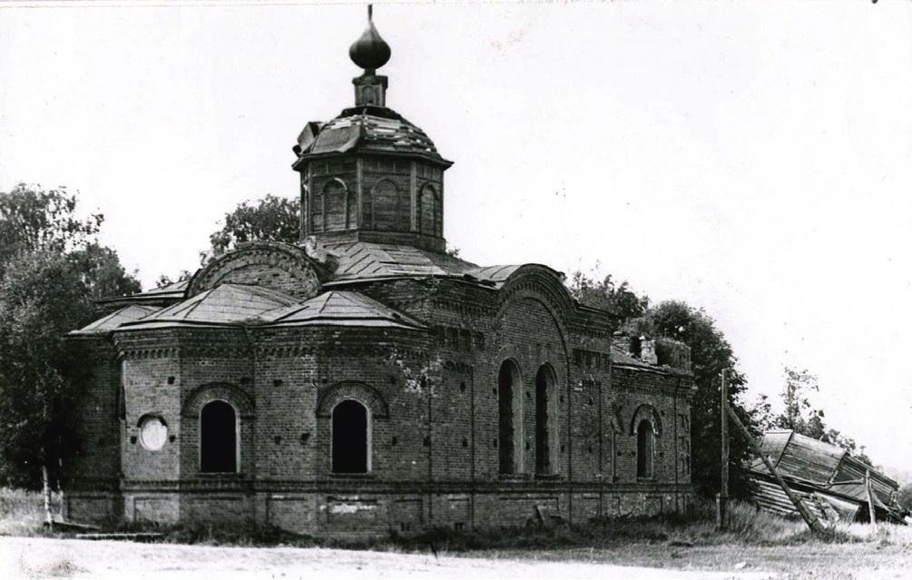 Церковь Благовещения Пресвятой Богородицы в Горинском, старая фотография