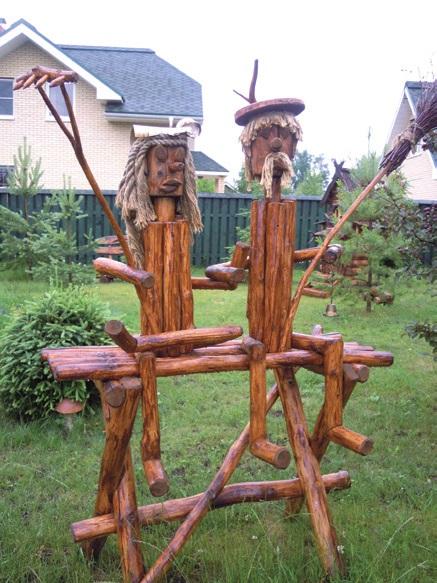 Забавные деревянные человечки