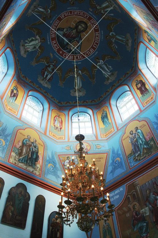 Троице-Михайловский храм в с. Прозорово, отделка и роспись